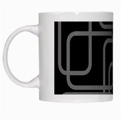 Black And Gray Decorative Design White Mugs by Valentinaart
