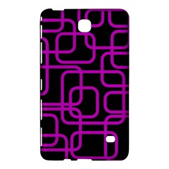 Purple And Black Elegant Design Samsung Galaxy Tab 4 (7 ) Hardshell Case  by Valentinaart