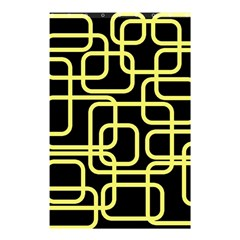 Yellow And Black Decorative Design Shower Curtain 48  X 72  (small)  by Valentinaart