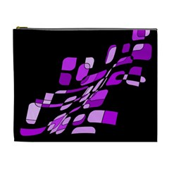 Purple Decorative Abstraction Cosmetic Bag (xl) by Valentinaart