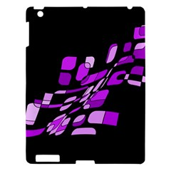 Purple Decorative Abstraction Apple Ipad 3/4 Hardshell Case by Valentinaart