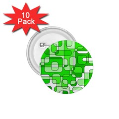 Green Decorative Abstraction  1 75  Buttons (10 Pack) by Valentinaart
