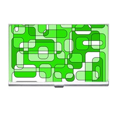 Green Decorative Abstraction  Business Card Holders by Valentinaart