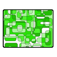Green Decorative Abstraction  Double Sided Fleece Blanket (small)  by Valentinaart