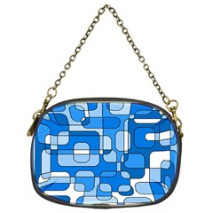 Blue Decorative Abstraction Chain Purses (one Side)  by Valentinaart