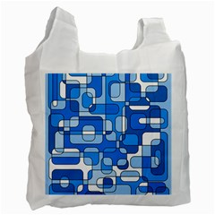 Blue Decorative Abstraction Recycle Bag (two Side)  by Valentinaart