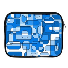 Blue decorative abstraction Apple iPad 2/3/4 Zipper Cases by Valentinaart