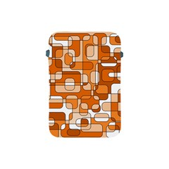 Orange Decorative Abstraction Apple Ipad Mini Protective Soft Cases by Valentinaart