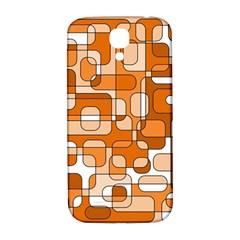 Orange Decorative Abstraction Samsung Galaxy S4 I9500/i9505  Hardshell Back Case by Valentinaart