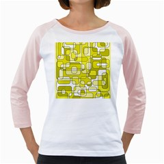 Yellow Decorative Abstraction Girly Raglans by Valentinaart