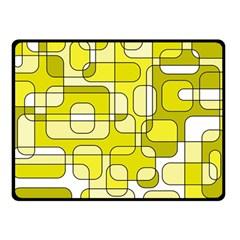 Yellow Decorative Abstraction Fleece Blanket (small) by Valentinaart