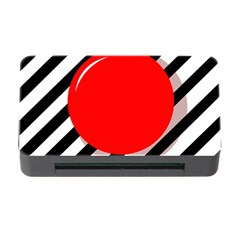 Red Ball Memory Card Reader With Cf by Valentinaart