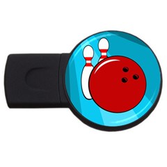 Bowling  USB Flash Drive Round (4 GB)  by Valentinaart