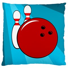Bowling  Large Cushion Case (one Side) by Valentinaart