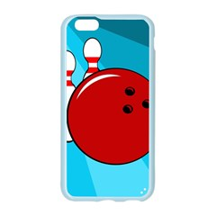 Bowling  Apple Seamless iPhone 6/6S Case (Color) by Valentinaart