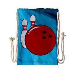 Bowling  Drawstring Bag (small) by Valentinaart