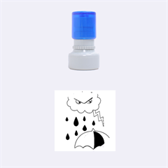 Rainy day Rubber Round Stamps (Small) by Valentinaart