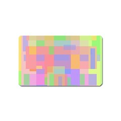 Pastel Decorative Design Magnet (name Card) by Valentinaart