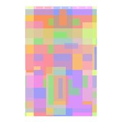 Pastel Decorative Design Shower Curtain 48  X 72  (small)  by Valentinaart