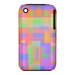 Pastel Decorative Design Apple Iphone 3g/3gs Hardshell Case (pc+silicone) by Valentinaart