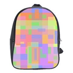 Pastel Decorative Design School Bags (xl)  by Valentinaart
