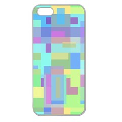 Pastel Geometrical Desing Apple Seamless Iphone 5 Case (clear) by Valentinaart