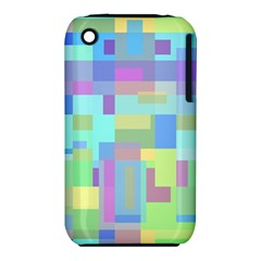 Pastel Geometrical Desing Apple Iphone 3g/3gs Hardshell Case (pc+silicone) by Valentinaart