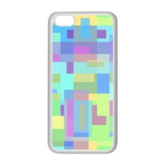 Pastel Geometrical Desing Apple Iphone 5c Seamless Case (white) by Valentinaart