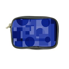 Deep Blue Abstract Design Coin Purse by Valentinaart