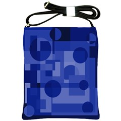 Deep blue abstract design Shoulder Sling Bags by Valentinaart