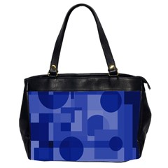 Deep Blue Abstract Design Office Handbags (2 Sides)  by Valentinaart