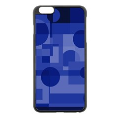 Deep Blue Abstract Design Apple Iphone 6 Plus/6s Plus Black Enamel Case by Valentinaart