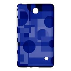 Deep blue abstract design Samsung Galaxy Tab 4 (7 ) Hardshell Case  by Valentinaart