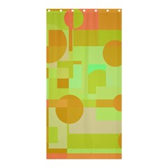 Green and orange decorative design Shower Curtain 36  x 72  (Stall)  by Valentinaart
