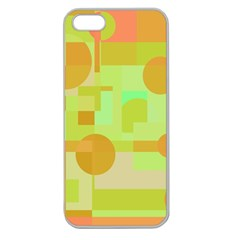Green And Orange Decorative Design Apple Seamless Iphone 5 Case (clear) by Valentinaart