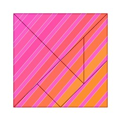 Pink elegant lines Acrylic Tangram Puzzle (6  x 6 ) by Valentinaart