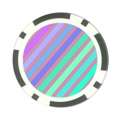 Pastel Colorful Lines Poker Chip Card Guards (10 Pack)  by Valentinaart