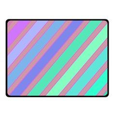 Pastel Colorful Lines Fleece Blanket (small) by Valentinaart
