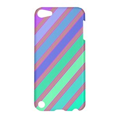 Pastel Colorful Lines Apple Ipod Touch 5 Hardshell Case by Valentinaart