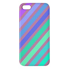 Pastel Colorful Lines Iphone 5s/ Se Premium Hardshell Case by Valentinaart