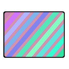 Pastel Colorful Lines Double Sided Fleece Blanket (small)  by Valentinaart