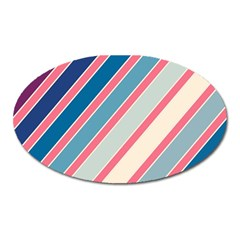 Colorful Lines Oval Magnet by Valentinaart