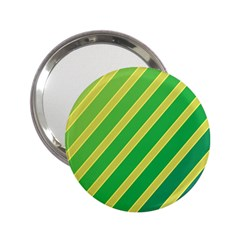 Green And Yellow Lines 2 25  Handbag Mirrors by Valentinaart