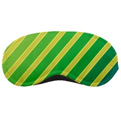 Green And Yellow Lines Sleeping Masks by Valentinaart