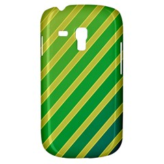 Green And Yellow Lines Samsung Galaxy S3 Mini I8190 Hardshell Case by Valentinaart