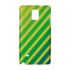 Green And Yellow Lines Samsung Galaxy Note 4 Hardshell Case by Valentinaart