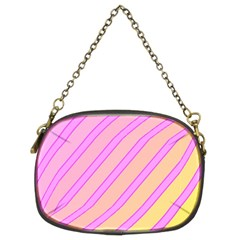 Pink And Yellow Elegant Design Chain Purses (two Sides)  by Valentinaart