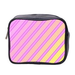 Pink And Yellow Elegant Design Mini Toiletries Bag 2 Side by Valentinaart