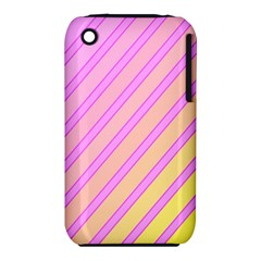 Pink And Yellow Elegant Design Apple Iphone 3g/3gs Hardshell Case (pc+silicone) by Valentinaart