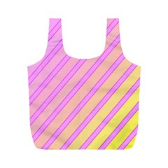 Pink And Yellow Elegant Design Full Print Recycle Bags (m)  by Valentinaart